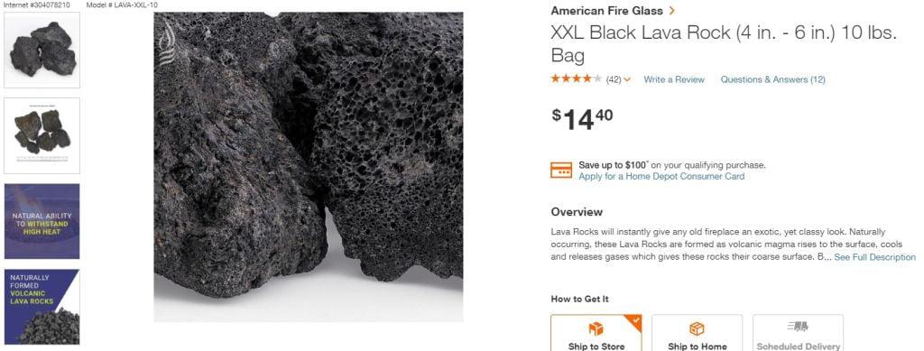 Aquarium Lava Rocks XXL Bigger size from Home Depot