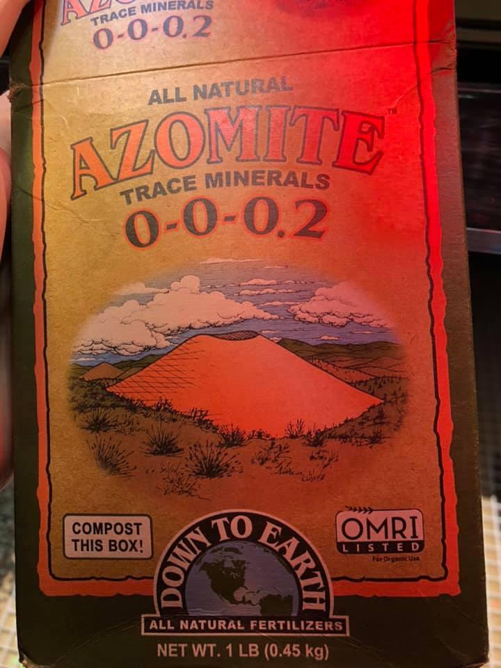 Azomite trace elements aquarium additive